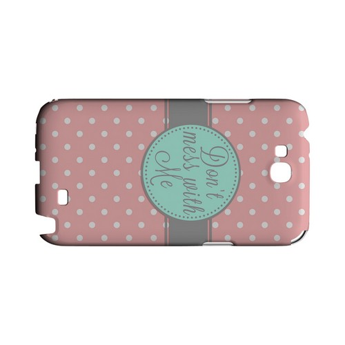 Don't Mess With Me Geeks Designer Line Polka Dot Series Slim Hard Case for Samsung Galaxy Note 2