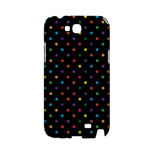 Small & Rainbow on Black Geeks Designer Line Polka Dot Series Slim Hard Case for Samsung Galaxy Note 2