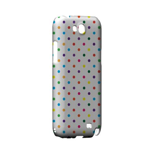 Small & Rainbow on White Geeks Designer Line Polka Dot Series Slim Hard Case for Samsung Galaxy Note 2