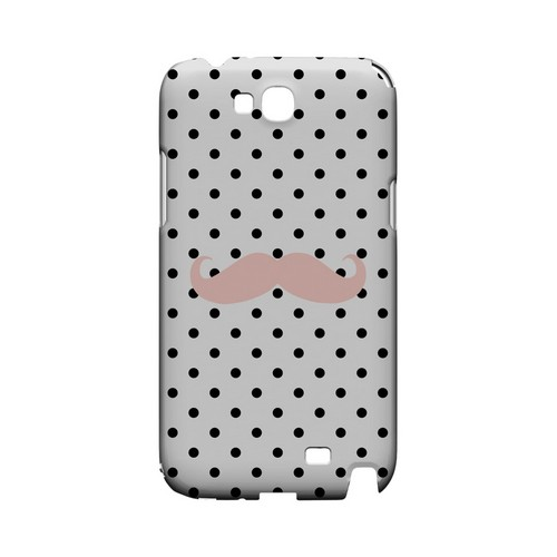 Pink Stache Geeks Designer Line Polka Dot Series Slim Hard Case for Samsung Galaxy Note 2