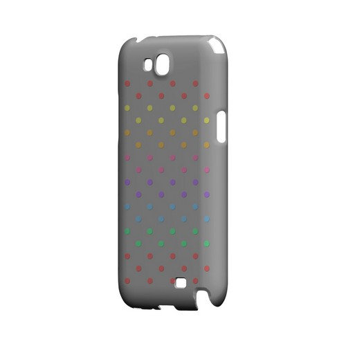 Rainbow Dots on Gray Geeks Designer Line Polka Dot Series Slim Hard Case for Samsung Galaxy Note 2