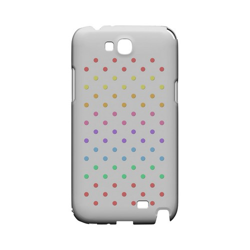 Rainbow Dots on White Geeks Designer Line Polka Dot Series Slim Hard Case for Samsung Galaxy Note 2