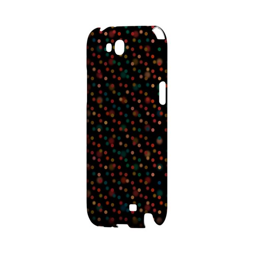 Faded Rainbow Dots on Black Geeks Designer Line Polka Dot Series Slim Hard Case for Samsung Galaxy Note 2
