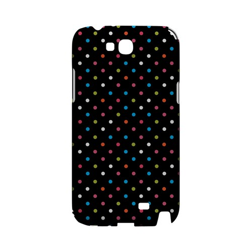 Retro Rainbow Dots on Black Geeks Designer Line Polka Dot Series Slim Hard Case for Samsung Galaxy Note 2