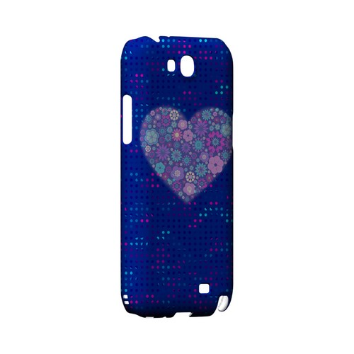 Shimmer Blue Dots & Heart Geeks Designer Line Polka Dot Series Slim Hard Case for Samsung Galaxy Note 2