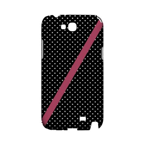 Pink Diagonal Stripe Geeks Designer Line Polka Dot Series Slim Hard Case for Samsung Galaxy Note 2