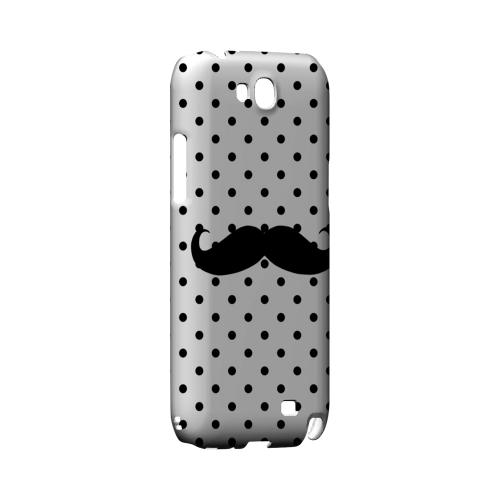 Stache on White Geeks Designer Line Polka Dot Series Slim Hard Case for Samsung Galaxy Note 2