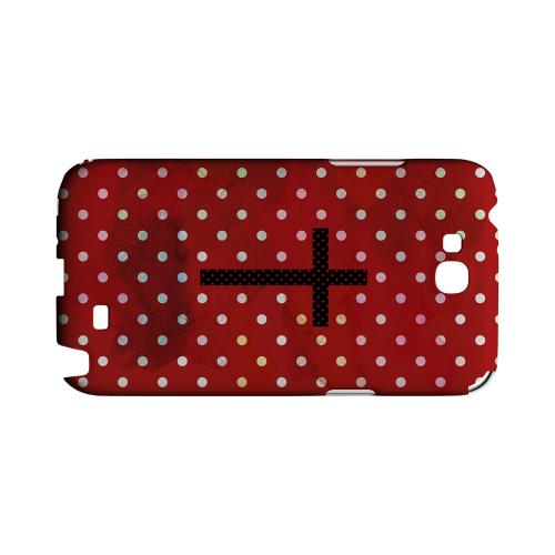 Stained Cross on Red Geeks Designer Line Polka Dot Series Slim Hard Case for Samsung Galaxy Note 2