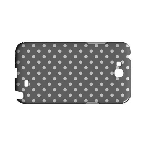 White Dots on Gray Geeks Designer Line Polka Dot Series Slim Hard Case for Samsung Galaxy Note 2