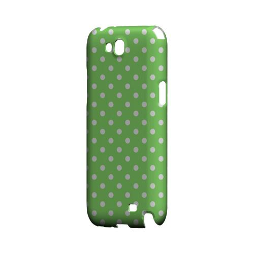 White Dots on Green Geeks Designer Line Polka Dot Series Slim Hard Case for Samsung Galaxy Note 2