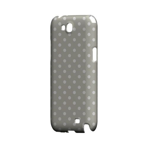 White Dots on Khaki Geeks Designer Line Polka Dot Series Slim Hard Case for Samsung Galaxy Note 2