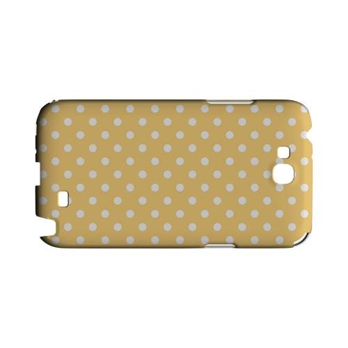White Dots on Orange Geeks Designer Line Polka Dot Series Slim Hard Case for Samsung Galaxy Note 2