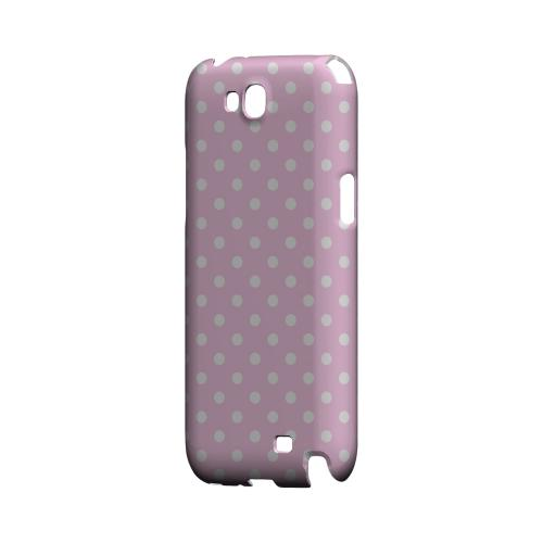 White Dots on Baby Pink Geeks Designer Line Polka Dot Series Slim Hard Case for Samsung Galaxy Note 2