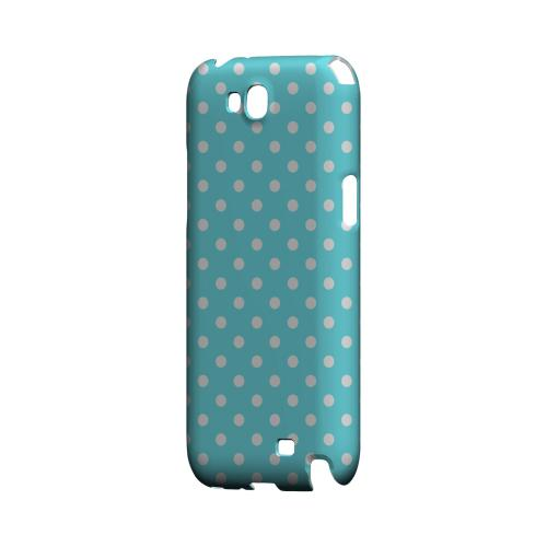 White Dots on Turquoise Geeks Designer Line Polka Dot Series Slim Hard Case for Samsung Galaxy Note 2