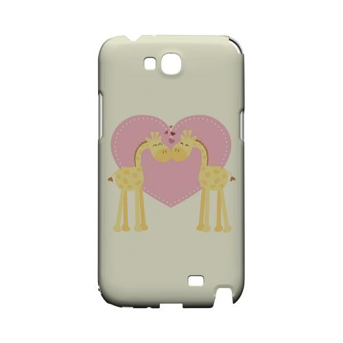 Giraffe Love on Light Yellow Geeks Designer Line Heart Series Slim Hard Case for Samsung Galaxy Note 2