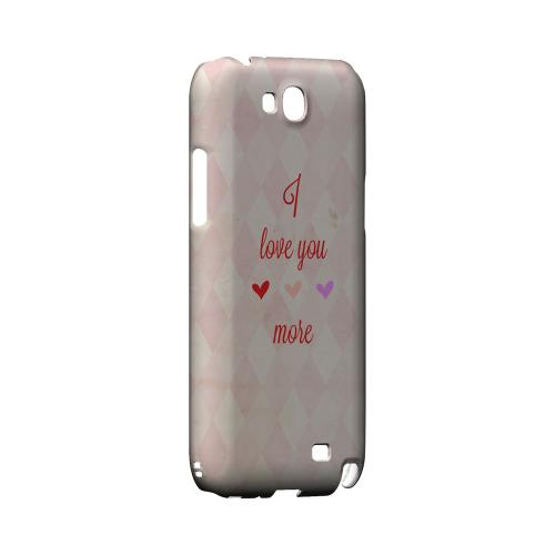 I Love You More Geeks Designer Line Heart Series Slim Hard Case for Samsung Galaxy Note 2