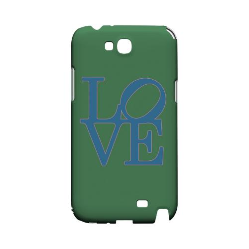 Blue Love on Green Geeks Designer Line Heart Series Slim Hard Case for Samsung Galaxy Note 2