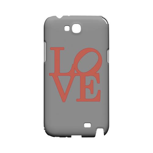 Pink Love on Gray Geeks Designer Line Heart Series Slim Hard Case for Samsung Galaxy Note 2