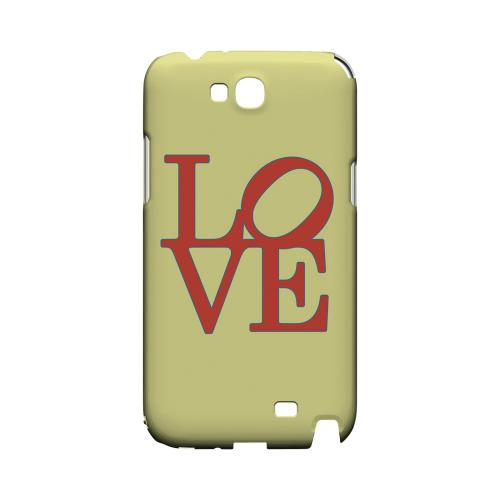 Red Love on Yellow Geeks Designer Line Heart Series Slim Hard Case for Samsung Galaxy Note 2