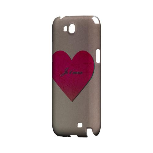 Je t'aime Geeks Designer Line Heart Series Slim Hard Case for Samsung Galaxy Note 2