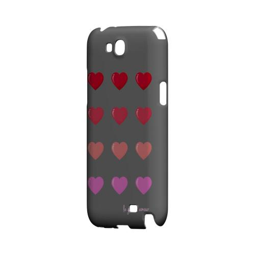 Le Grand Amour Geeks Designer Line Heart Series Slim Hard Case for Samsung Galaxy Note 2