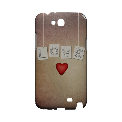 Love & Heart Balloon Geeks Designer Line Heart Series Slim Hard Case for Samsung Galaxy Note 2