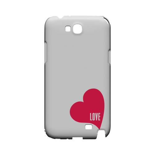 Love Heart Geeks Designer Line Heart Series Slim Hard Case for Samsung Galaxy Note 2