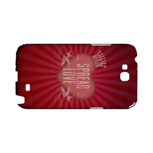 Spread Love Geeks Designer Line Heart Series Slim Hard Case for Samsung Galaxy Note 2