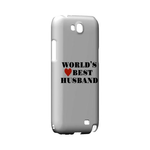 World's Best Husband Geeks Designer Line Heart Series Slim Hard Case for Samsung Galaxy Note 2