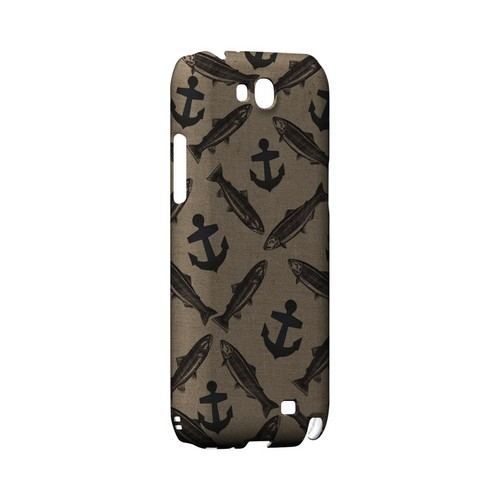 Vintage Salmon/Trout/Anchor Design - Geeks Designer Line (GDL) Fish Series Hard Back Cover for Samsung Galaxy Note 2