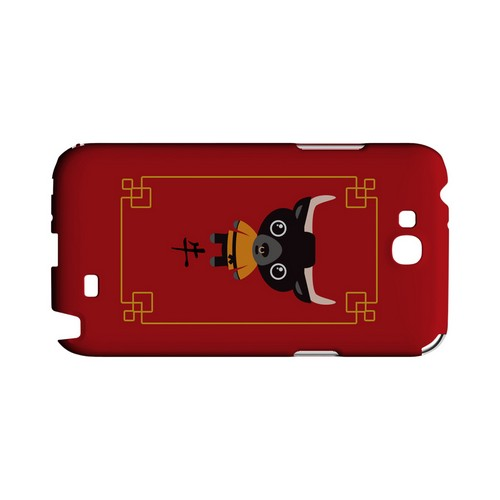 Chibi Ox Geeks Designer Line Chinese Horoscope Series Slim Hard Case for Samsung Galaxy Note 2