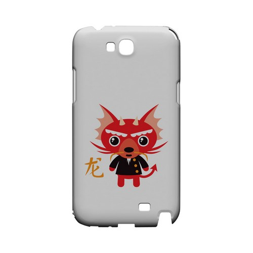 Dragon on White Geeks Designer Line Chinese Horoscope Series Slim Hard Case for Samsung Galaxy Note 2