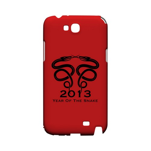 Dual Snake on Red Geeks Designer Line Chinese Horoscope Series Slim Hard Case for Samsung Galaxy Note 2