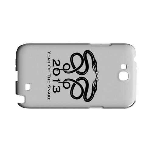 Dual Snake on White Geeks Designer Line Chinese Horoscope Series Slim Hard Case for Samsung Galaxy Note 2