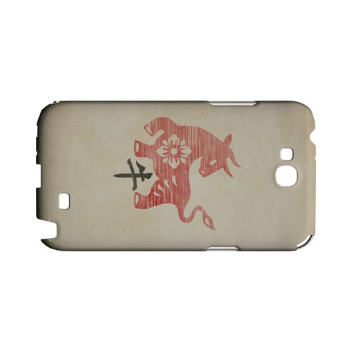 Grunge Ox Geeks Designer Line Chinese Horoscope Series Slim Hard Case for Samsung Galaxy Note 2