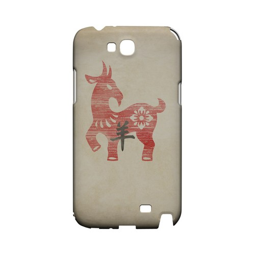 Grunge Sheep Geeks Designer Line Chinese Horoscope Series Slim Hard Case for Samsung Galaxy Note 2