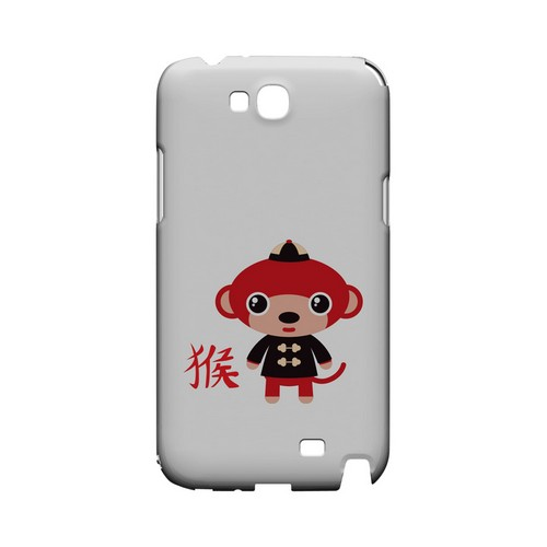 Monkey on White Geeks Designer Line Chinese Horoscope Series Slim Hard Case for Samsung Galaxy Note 2