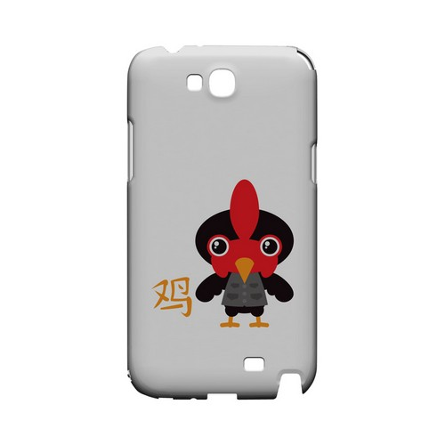 Rooster on White Geeks Designer Line Chinese Horoscope Series Slim Hard Case for Samsung Galaxy Note 2