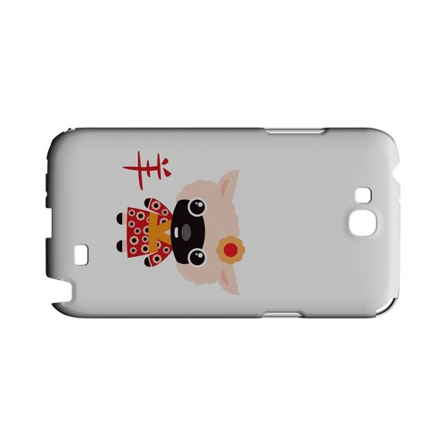 Sheep on White Geeks Designer Line Chinese Horoscope Series Slim Hard Case for Samsung Galaxy Note 2