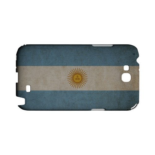 Grunge Argentina Geeks Designer Line Flag Series Slim Hard Case for Samsung Galaxy Note 2