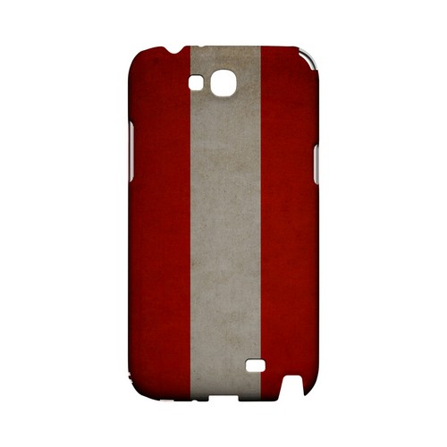 Grunge Austria Geeks Designer Line Flag Series Slim Hard Case for Samsung Galaxy Note 2