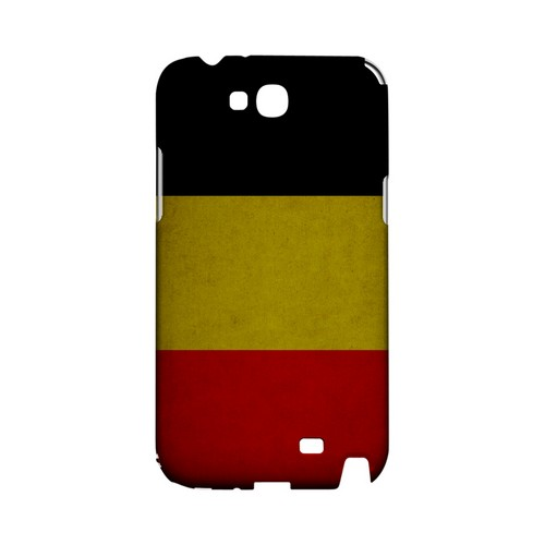 Grunge Belgium Geeks Designer Line Flag Series Slim Hard Case for Samsung Galaxy Note 2