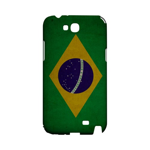 Grunge Brazil Geeks Designer Line Flag Series Slim Hard Case for Samsung Galaxy Note 2