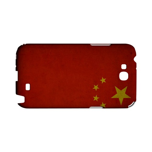 Grunge China Geeks Designer Line Flag Series Slim Hard Case for Samsung Galaxy Note 2