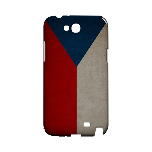 Grunge Czech Republic Geeks Designer Line Flag Series Slim Hard Case for Samsung Galaxy Note 2