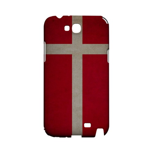 Grunge Denmark Geeks Designer Line Flag Series Slim Hard Case for Samsung Galaxy Note 2
