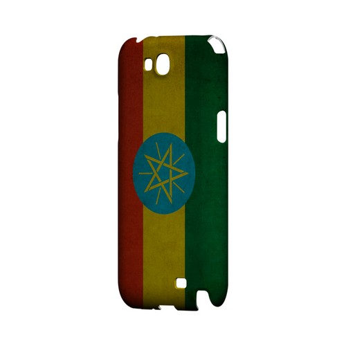 Grunge Ethiopia Geeks Designer Line Flag Series Slim Hard Case for Samsung Galaxy Note 2