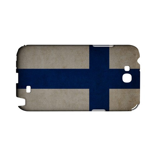 Grunge Finland Geeks Designer Line Flag Series Slim Hard Case for Samsung Galaxy Note 2