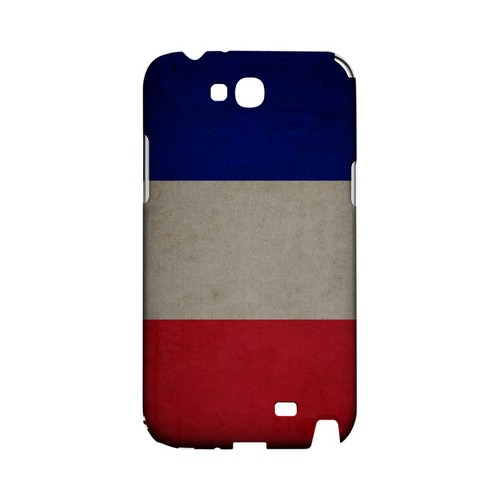 Grunge France Geeks Designer Line Flag Series Slim Hard Case for Samsung Galaxy Note 2