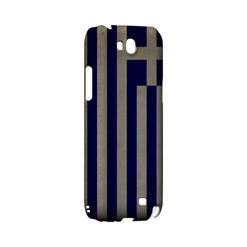 Grunge Greece Geeks Designer Line Flag Series Slim Hard Case for Samsung Galaxy Note 2